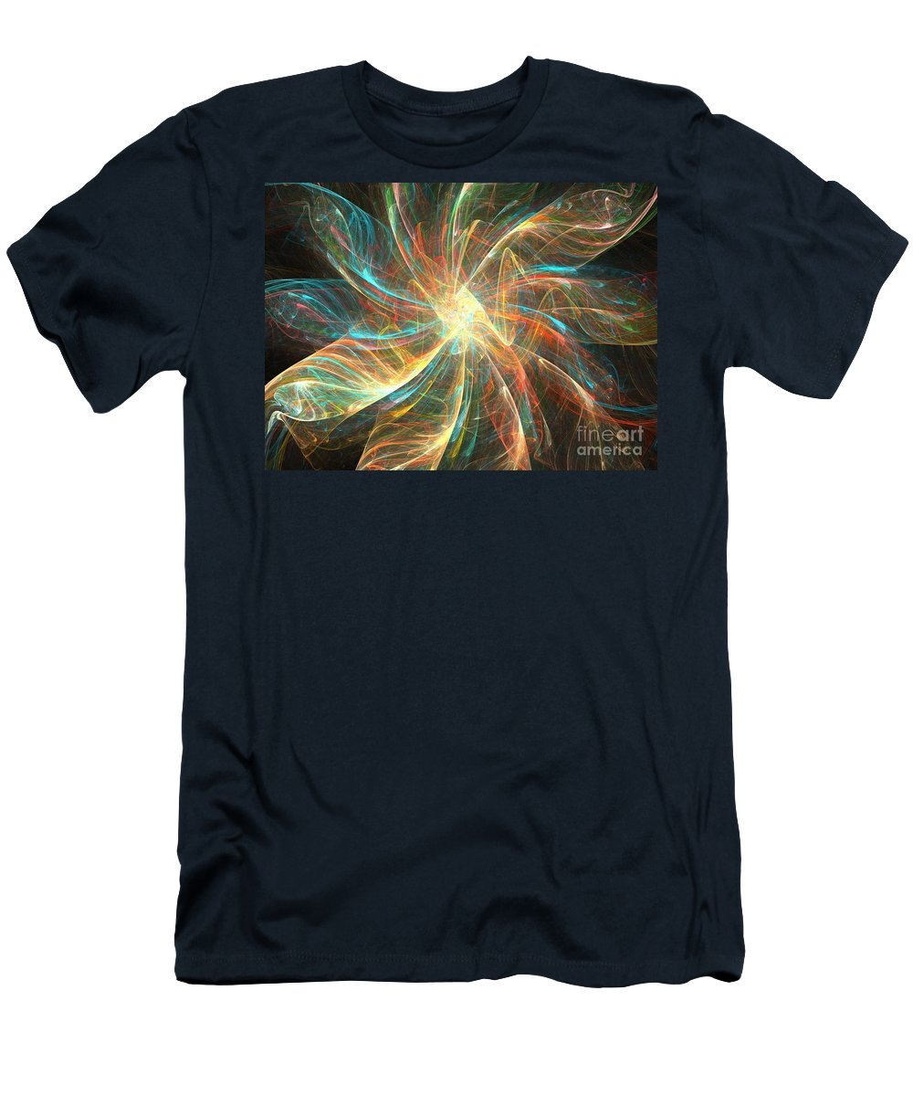 Apophysis Men's T-Shirt (Athletic Fit) featuring the digital art Astral Flower by Kim Sy Ok