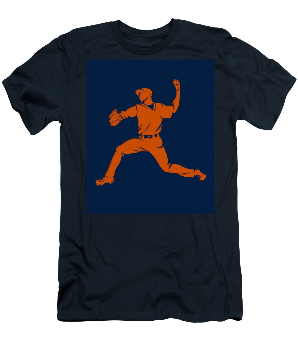Astros Men's T-Shirt (Athletic Fit) featuring the photograph Astros Shadow Player1 by Joe Hamilton