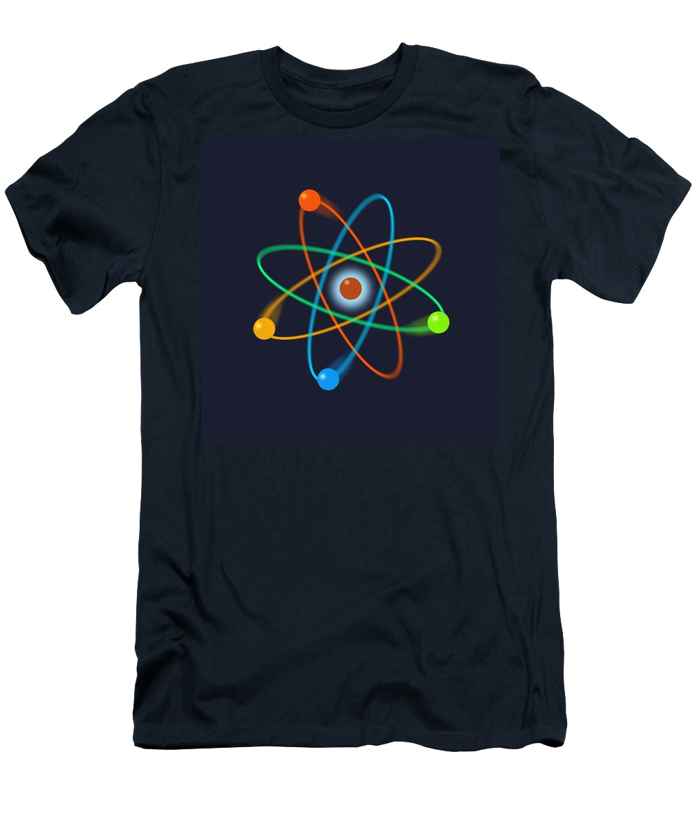 atomic Structure Men's T-Shirt (Athletic Fit) featuring the digital art Atomic Structure by Thisis Notme