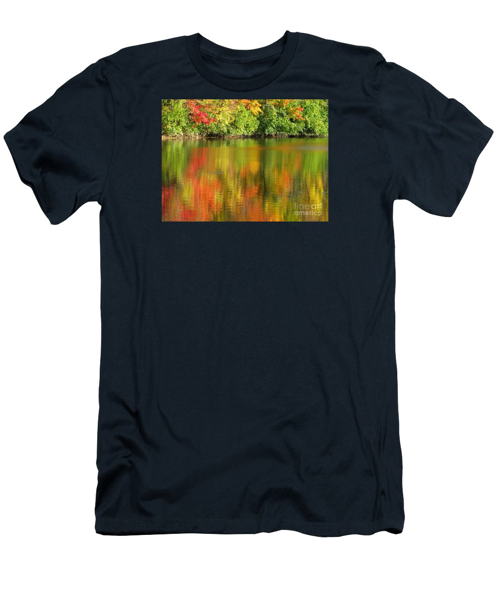 Autumn Men's T-Shirt (Athletic Fit) featuring the photograph Autumn Brilliance by Ann Horn