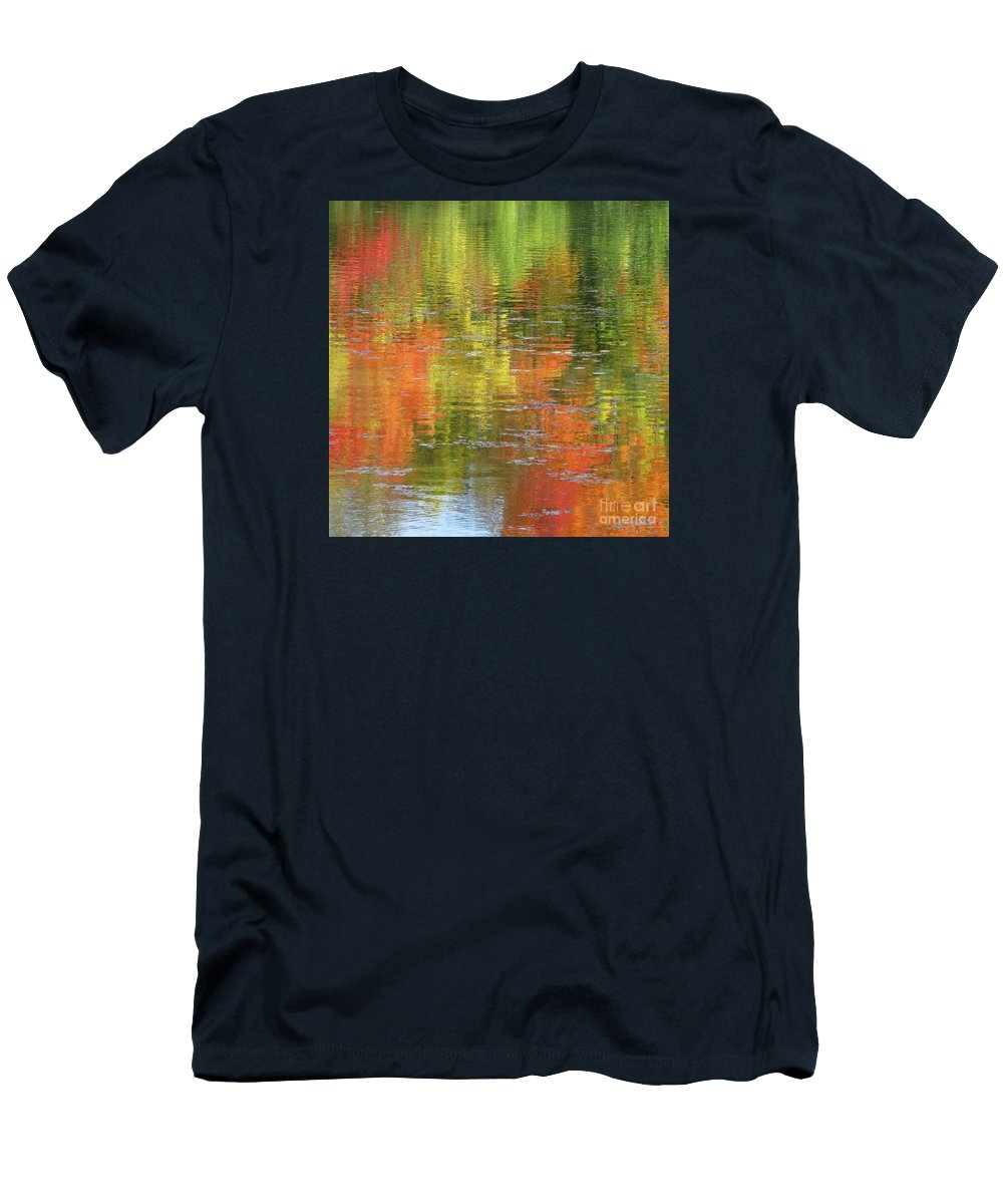 Autumn T-Shirt featuring the photograph Autumn Water Colors by Ann Horn