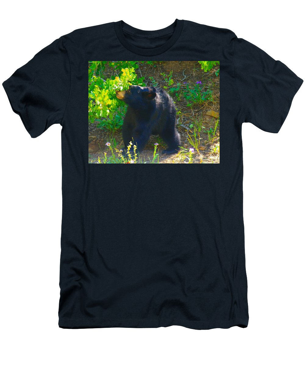 Bears Men's T-Shirt (Athletic Fit) featuring the photograph Baby Bear Cub by Jeff Swan