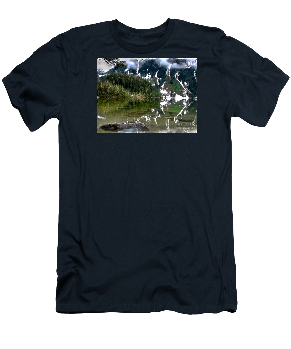 Alaska Men's T-Shirt (Athletic Fit) featuring the photograph Baranof Lake by Robert Bales