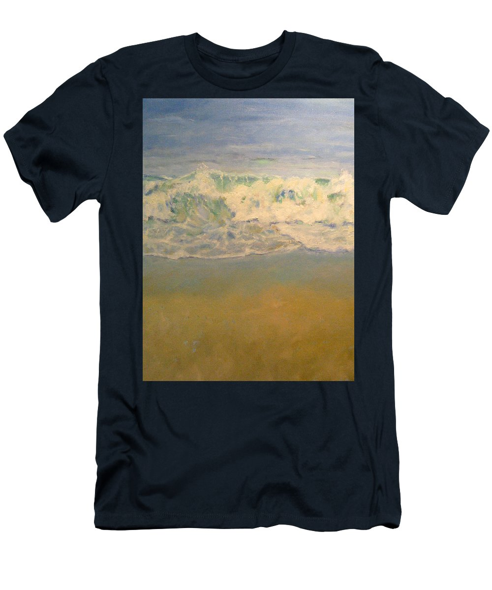 Landscape Men's T-Shirt (Athletic Fit) featuring the painting Beach Waves by Sarah Parks