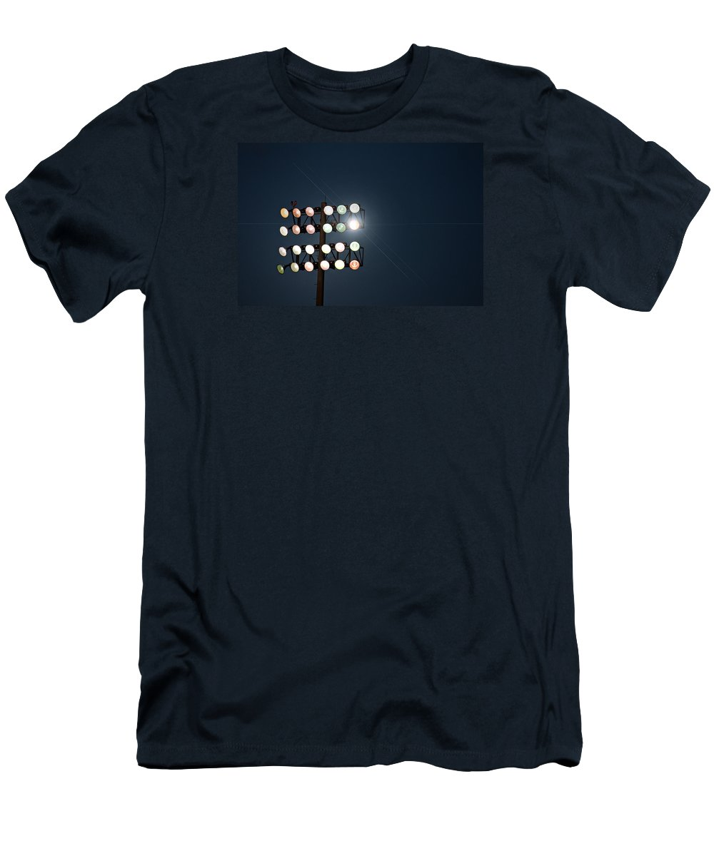 Lights T-Shirt featuring the photograph Beneath Friday Night Lights by Trish Mistric