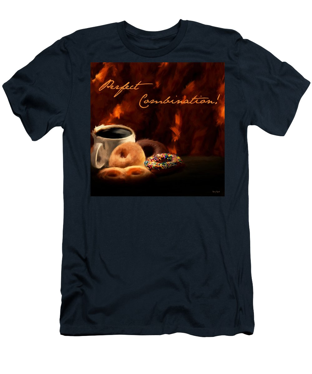 Coffee Men's T-Shirt (Athletic Fit) featuring the digital art Best You'll Ever Have by Lourry Legarde