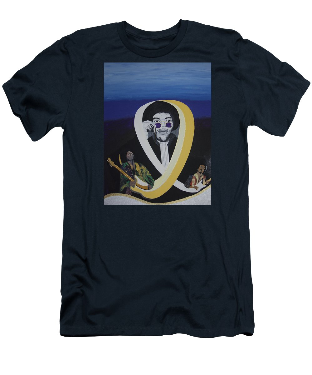 Memorable Men's T-Shirt (Athletic Fit) featuring the painting Beyond The Haze by Dean Stephens