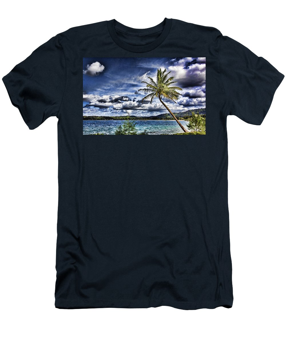 Hawaii Men's T-Shirt (Athletic Fit) featuring the photograph Big Island Beaches V2 by Douglas Barnard
