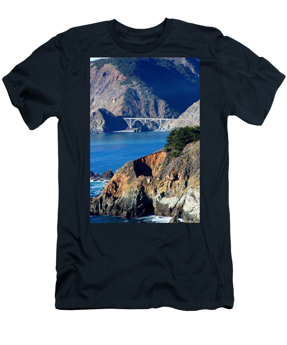 Big Sur Men's T-Shirt (Athletic Fit) featuring the photograph Big Sur by Tara Fisher