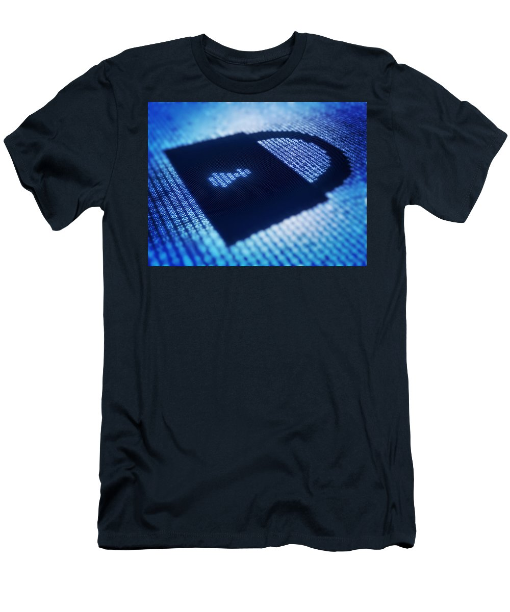 Radiant Men's T-Shirt (Athletic Fit) featuring the photograph Electronic Data Security by Johan Swanepoel