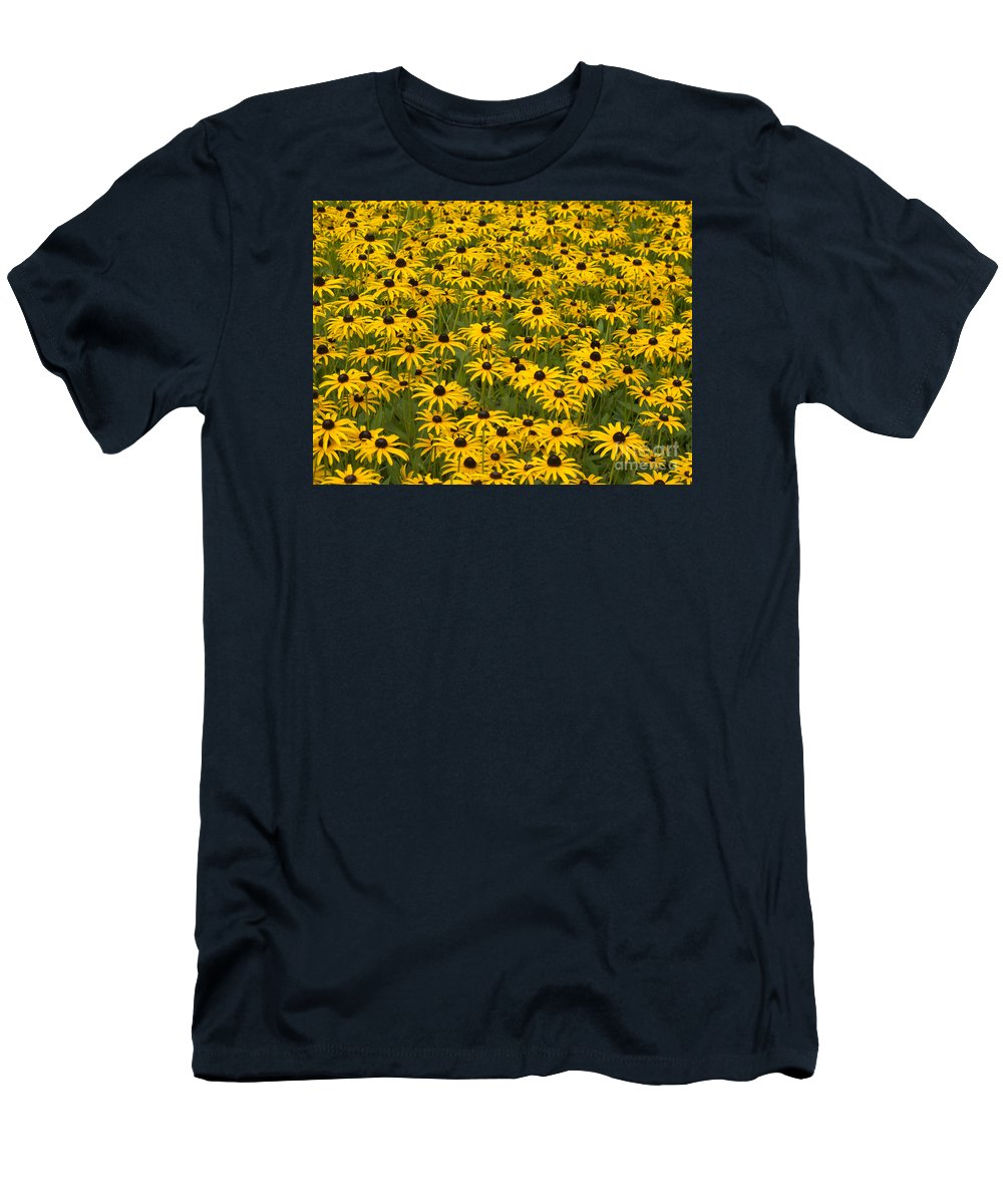 Flower Men's T-Shirt (Athletic Fit) featuring the photograph Black-eyed Susans by Ann Horn