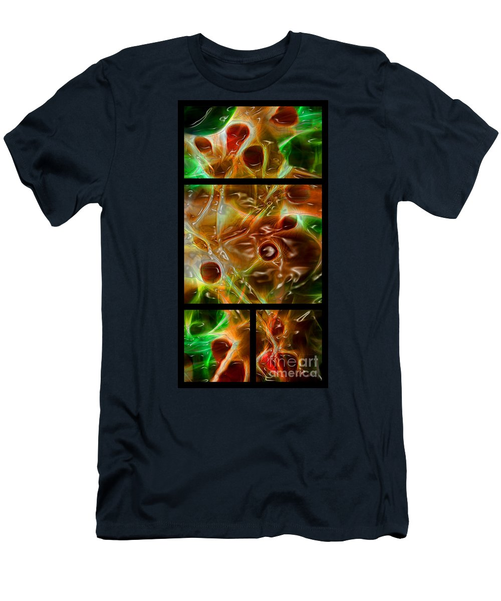 Blood Men's T-Shirt (Athletic Fit) featuring the digital art Blood Work Triptych by Peter Piatt
