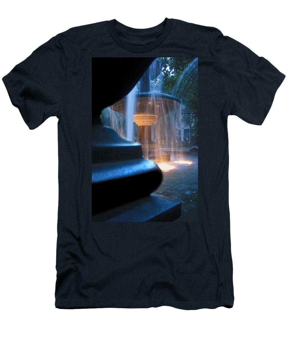 Blue Men's T-Shirt (Athletic Fit) featuring the photograph Blue by Johnny Lam