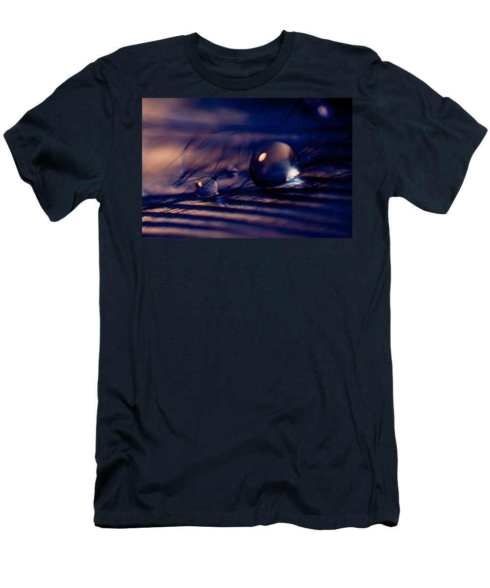 Feather Men's T-Shirt (Athletic Fit) featuring the photograph Blue Mood by Lauri Novak