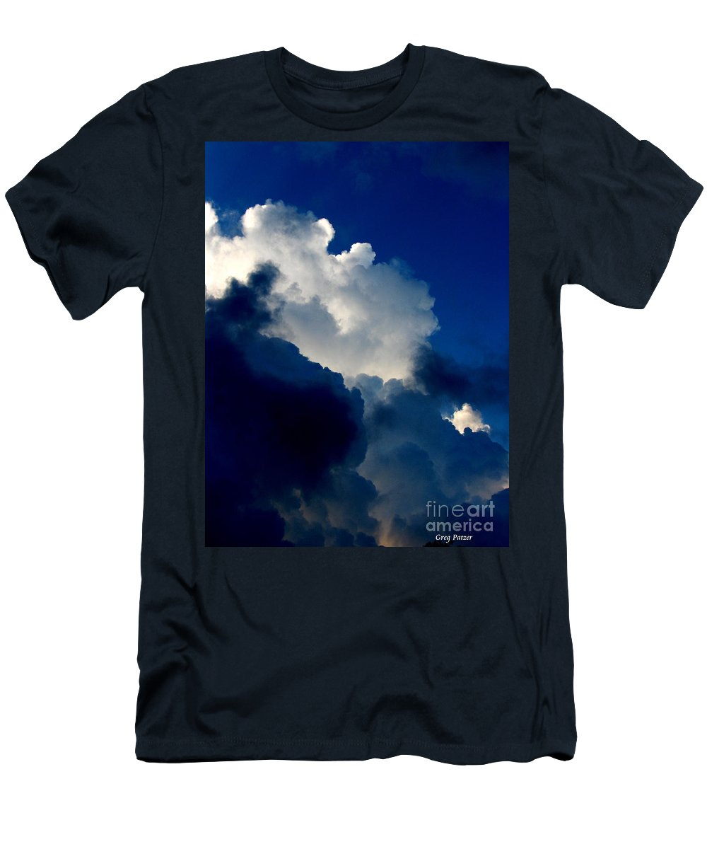 Patzer Men's T-Shirt (Athletic Fit) featuring the photograph Blue Skies by Greg Patzer