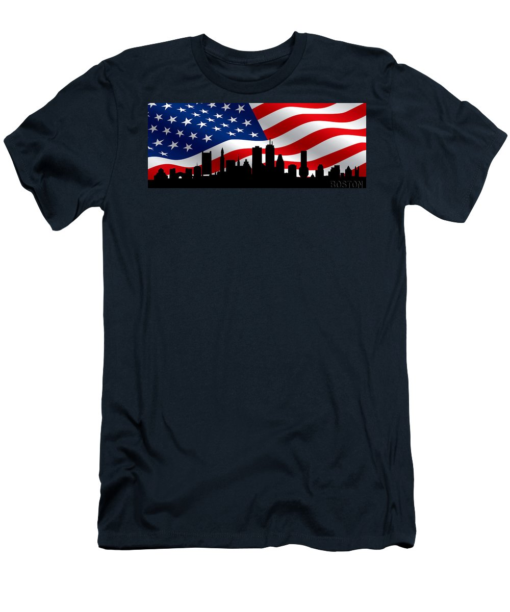 Boston Men's T-Shirt (Athletic Fit) featuring the photograph Boston Skyline 1 by Andrew Fare