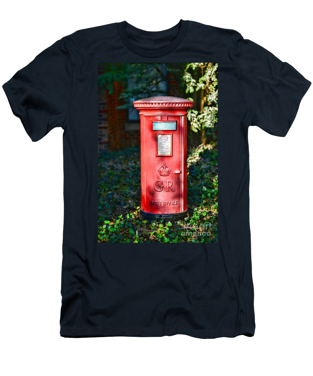 Paul Ward Men's T-Shirt (Athletic Fit) featuring the photograph British Mail Box by Paul Ward