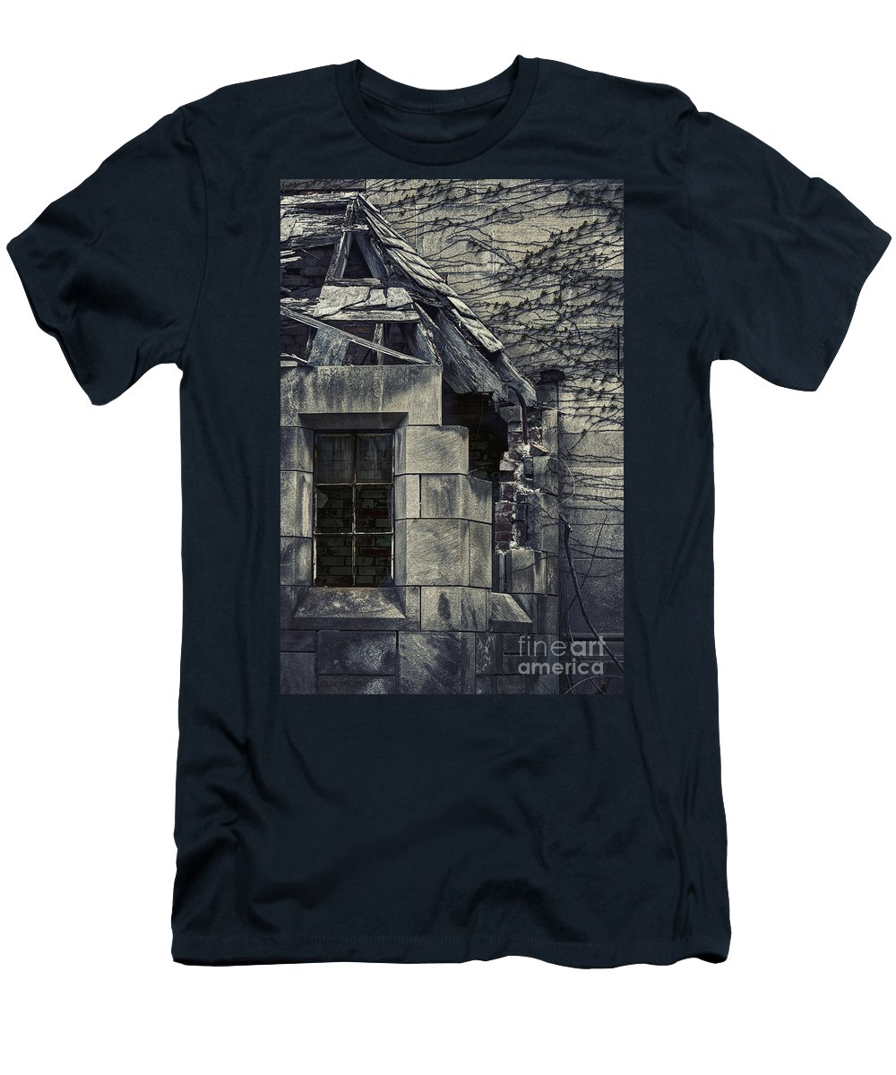 Window Men's T-Shirt (Athletic Fit) featuring the photograph Broken Facade by Margie Hurwich