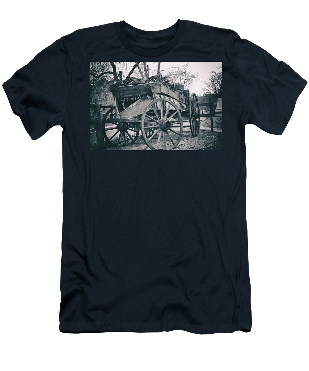 Aged Men's T-Shirt (Athletic Fit) featuring the photograph Broken by Jack R Perry