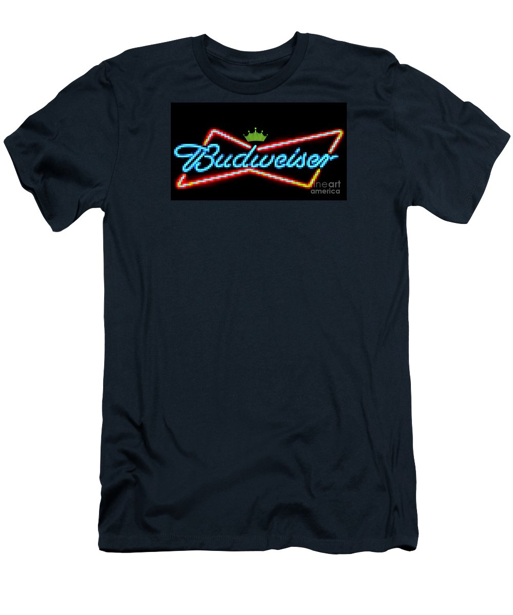 Men's T-Shirt (Athletic Fit) featuring the photograph Budweiser 2 by Kelly Awad