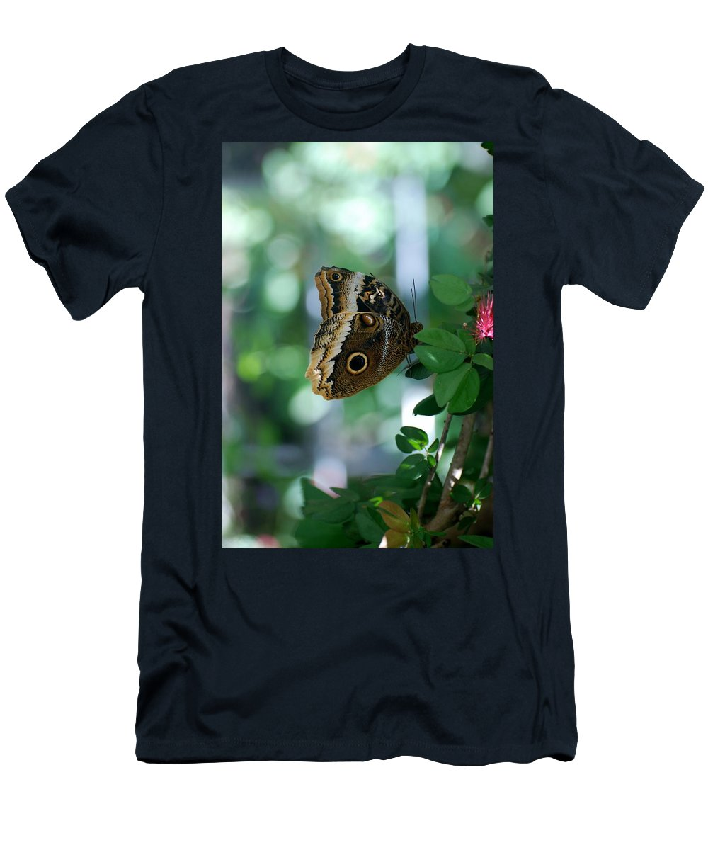 Lepidopterology Men's T-Shirt (Athletic Fit) featuring the photograph Buterfly 4 by Rob Hans