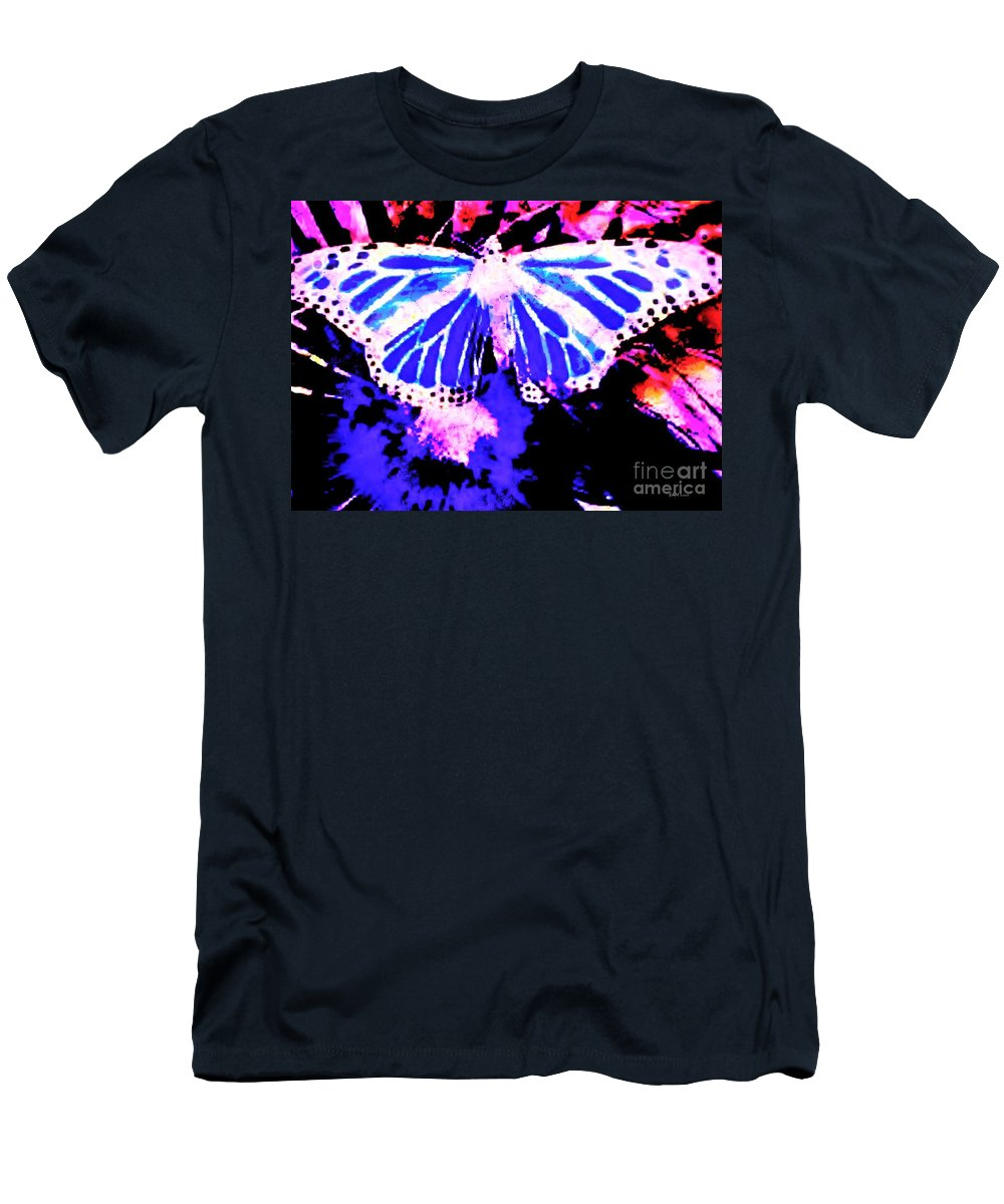 Fractal Art Men's T-Shirt (Athletic Fit) featuring the digital art Butterfly 4 by Elizabeth McTaggart