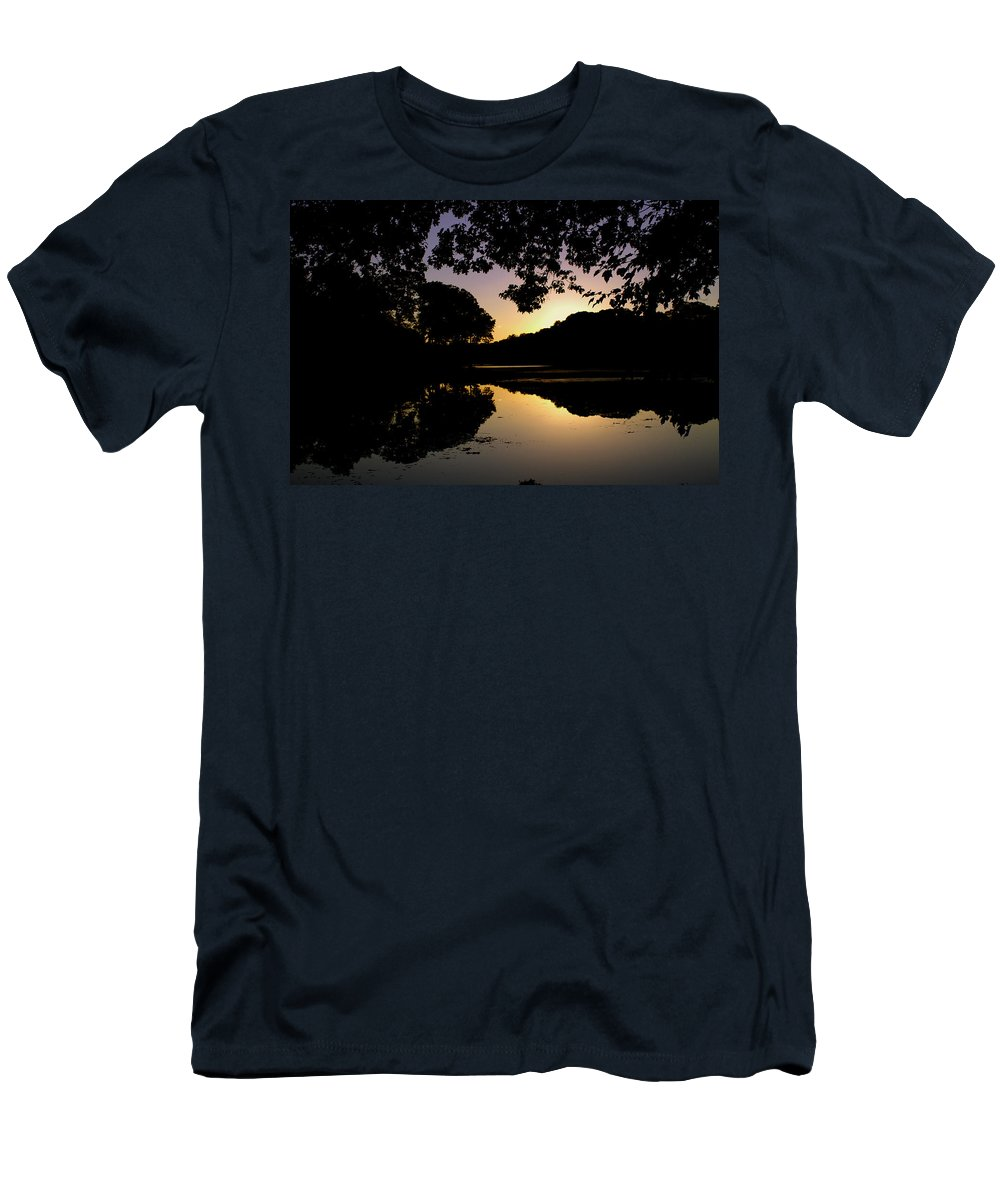 Buttonwood Manor Men's T-Shirt (Athletic Fit) featuring the photograph Buttonwood Sunset by Pablo Rosales