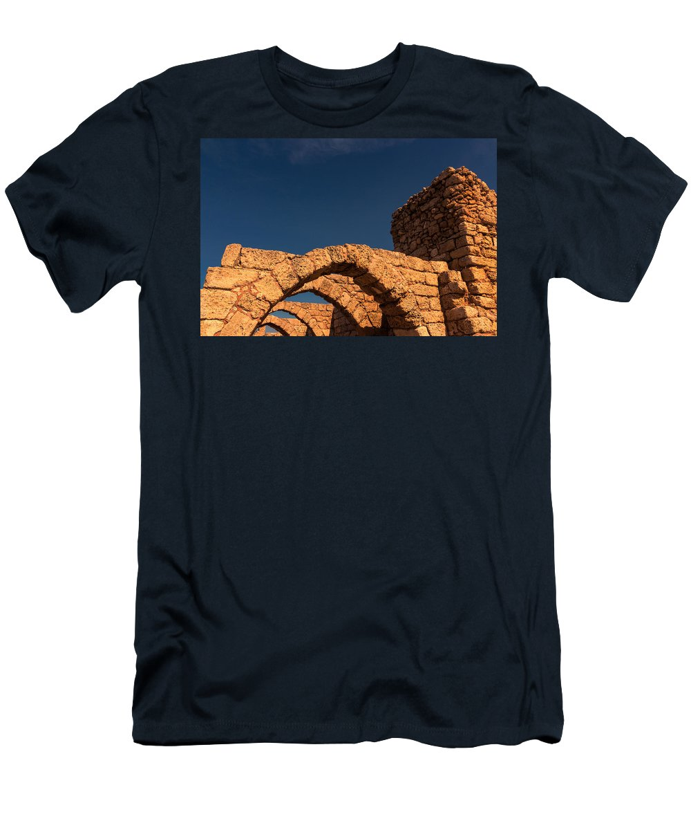 Caesarea Men's T-Shirt (Athletic Fit) featuring the photograph Caesarea by David Gleeson