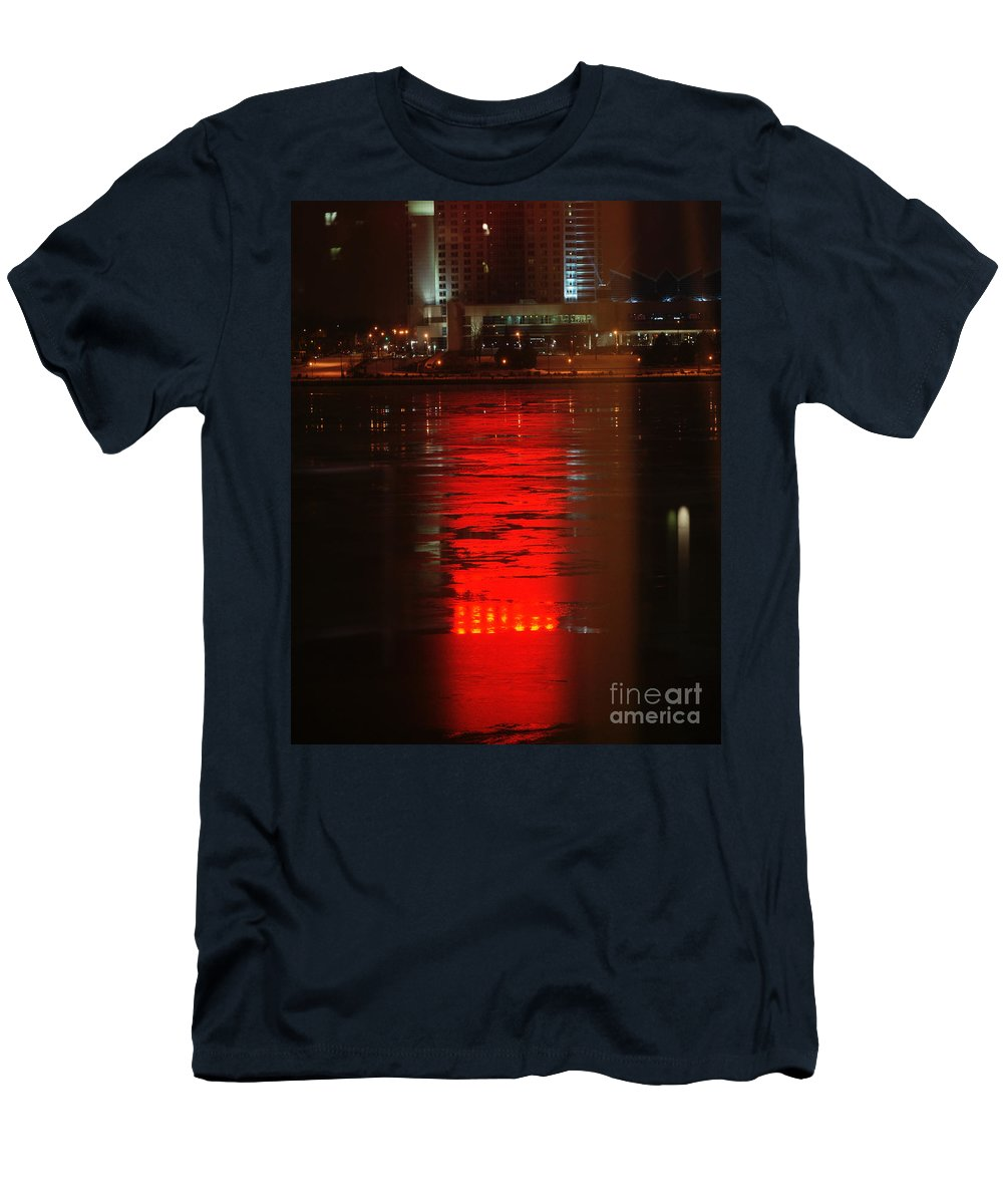 Winter Men's T-Shirt (Athletic Fit) featuring the photograph Caesars Reflection by Linda Shafer