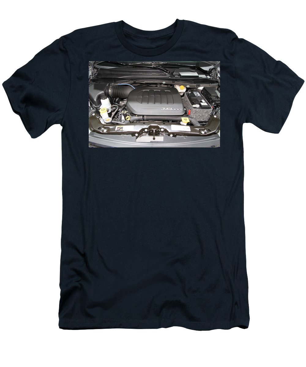 New Men's T-Shirt (Athletic Fit) featuring the photograph Car Engine by Valentino Visentini