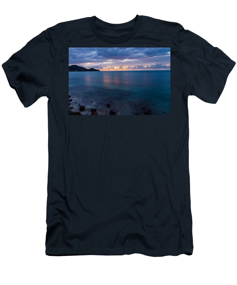 Calm Men's T-Shirt (Athletic Fit) featuring the photograph Caribbean Sunset by Jess Kraft