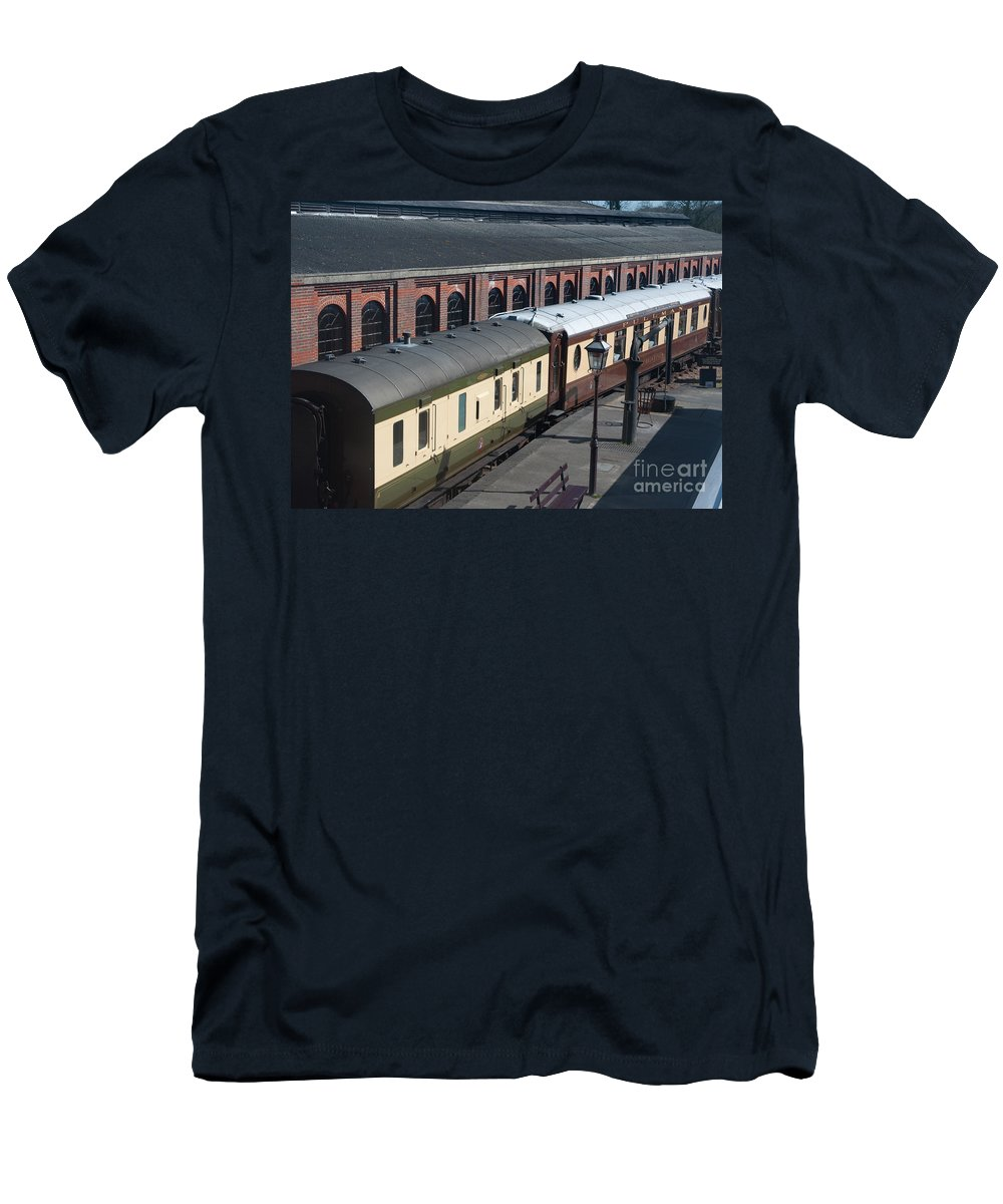 Bluebell Railway Men's T-Shirt (Athletic Fit) featuring the digital art Carriages by Paul Stevens