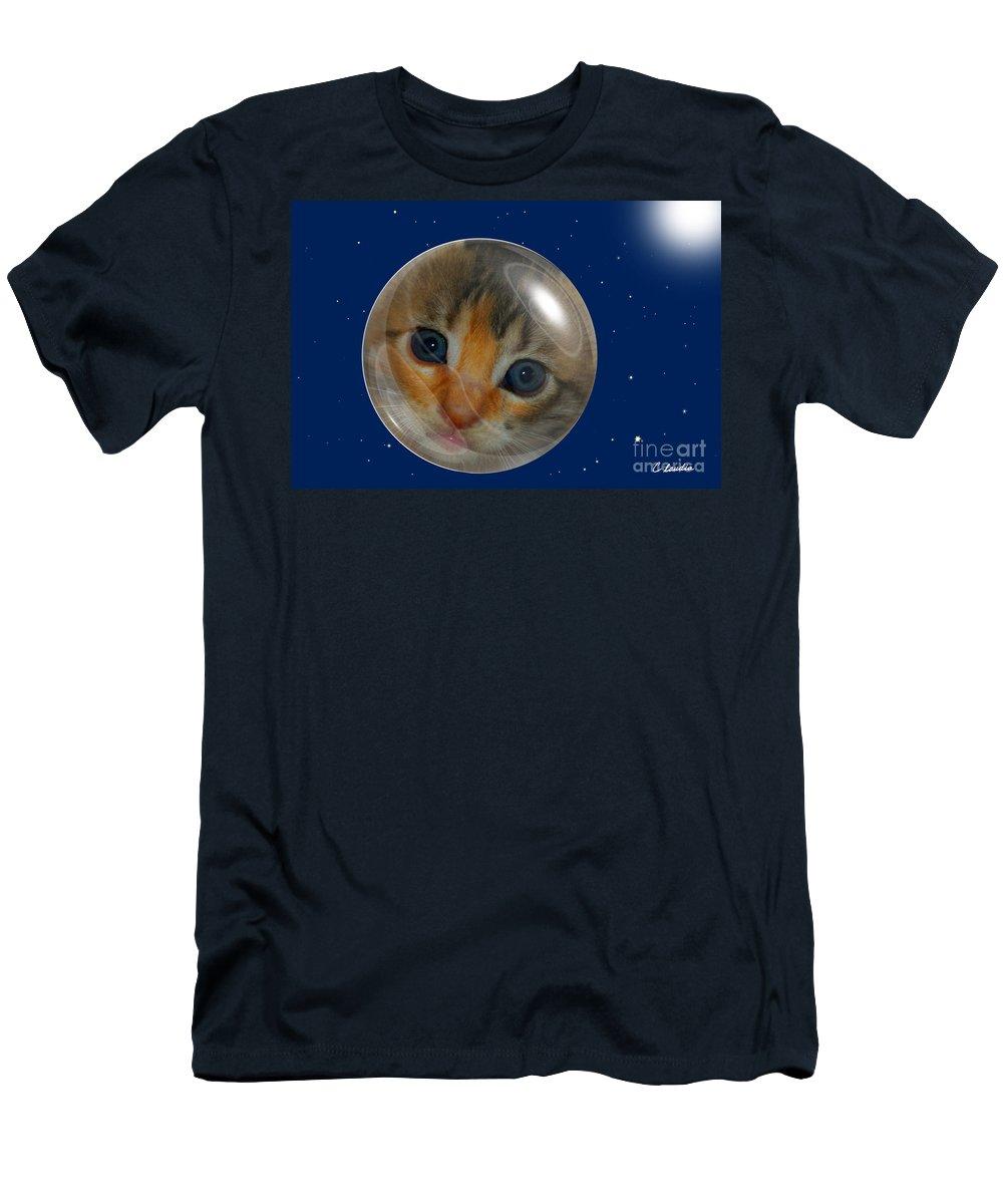 Claudia's Art Dream Men's T-Shirt (Athletic Fit) featuring the photograph Cat Planet by Claudia Ellis