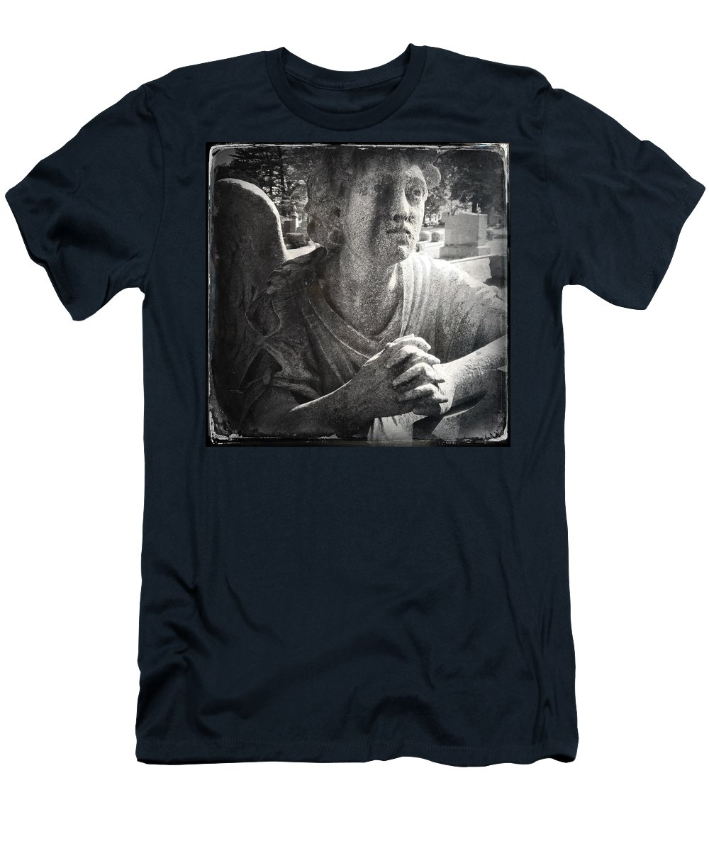 Angel Men's T-Shirt (Athletic Fit) featuring the photograph Cemetary by H James Hoff