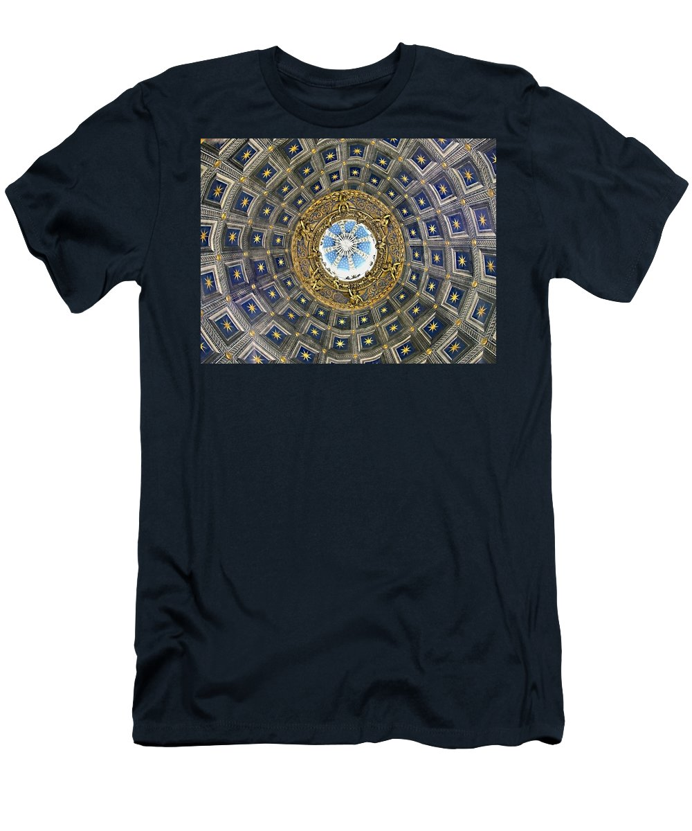 Cherubic Cupola Men's T-Shirt (Athletic Fit) featuring the photograph Cherubic Cupola by Ellen Henneke