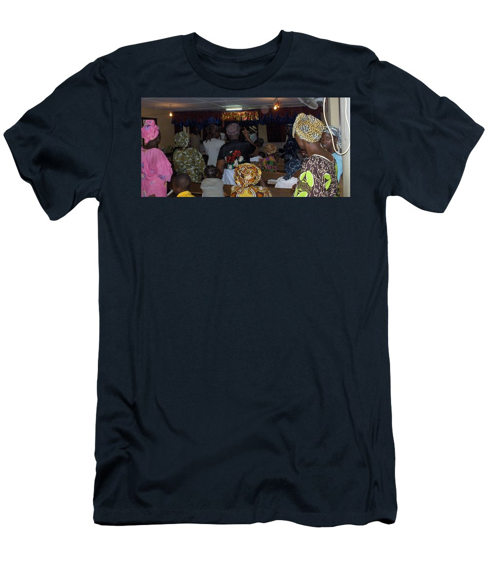 Church Men's T-Shirt (Athletic Fit) featuring the photograph Church In Nigeria by Amy Hosp