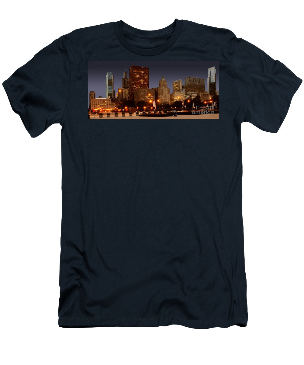 Chicago Men's T-Shirt (Athletic Fit) featuring the photograph Cicago by Jt PhotoDesign