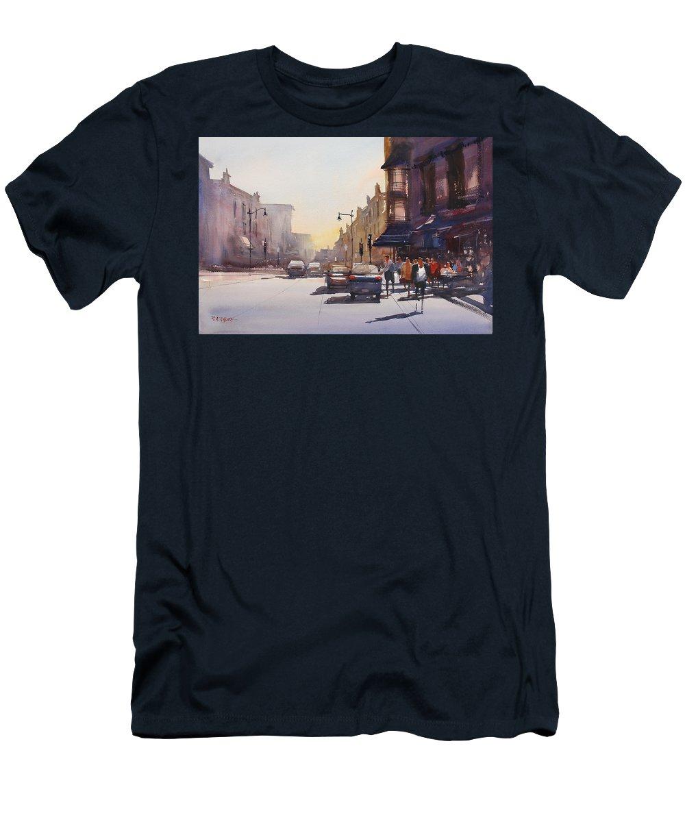 Ryan Radke Men's T-Shirt (Athletic Fit) featuring the painting City Shadows by Ryan Radke