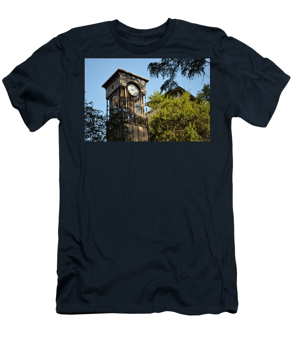Architecture Men's T-Shirt (Athletic Fit) featuring the photograph City Time by Shawn Marlow