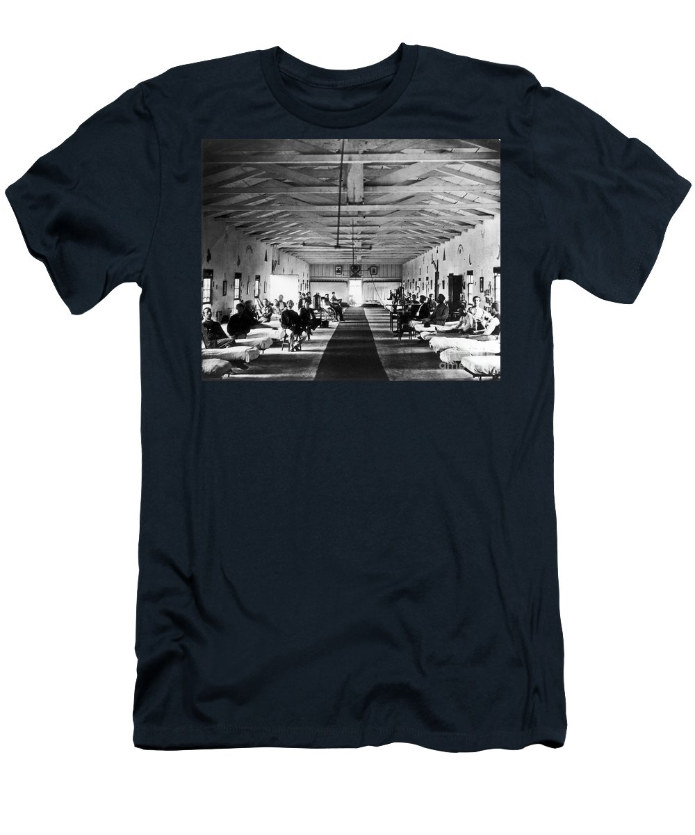 1865 Men's T-Shirt (Athletic Fit) featuring the photograph Civil War: Hospital, 1865 by Granger