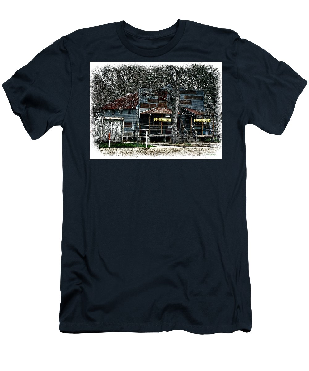 Clodine Texas Canvas Print T-Shirt featuring the photograph Clodine Post Office by Lucy VanSwearingen