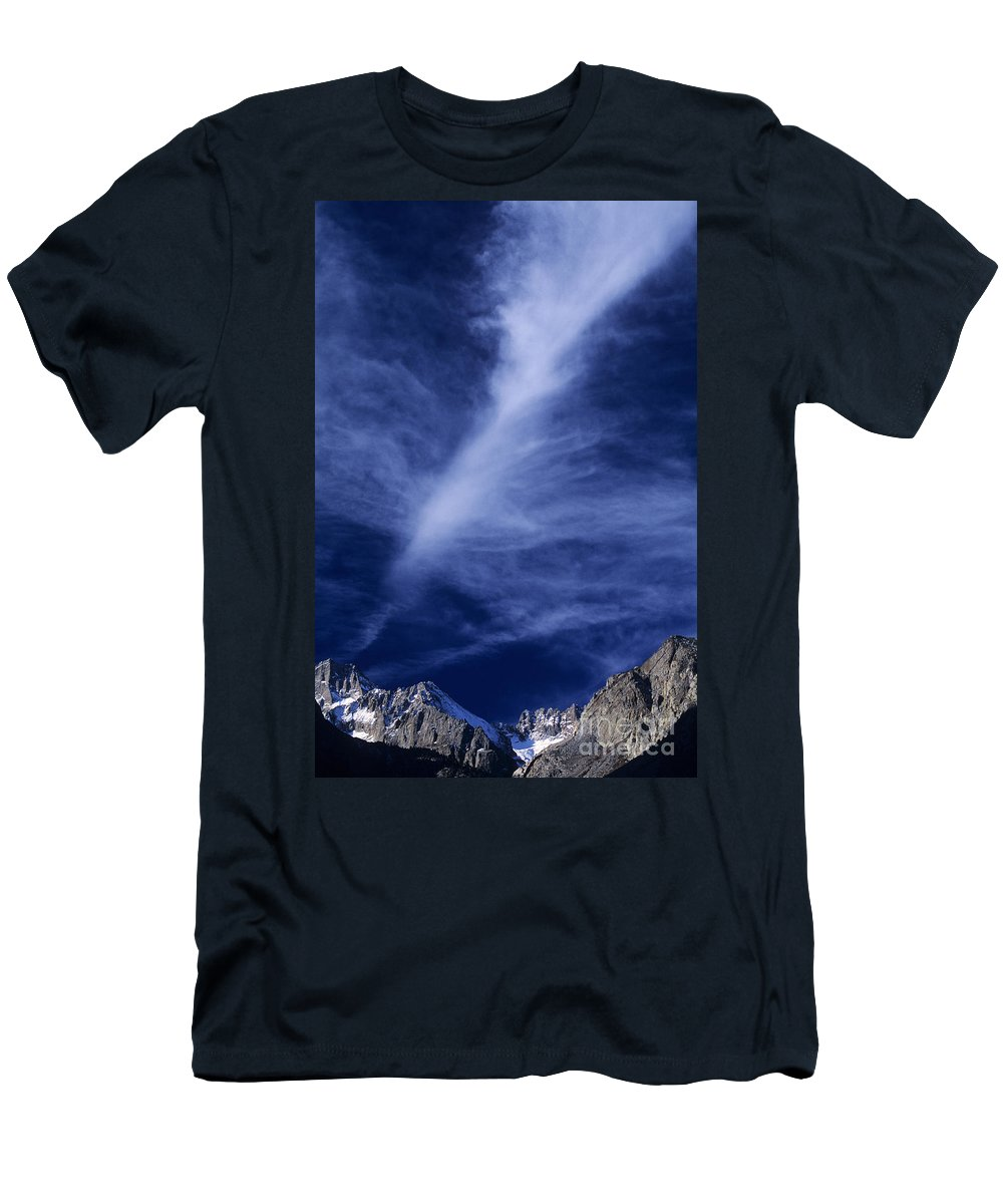 North America Men's T-Shirt (Athletic Fit) featuring the photograph Clouds Over Middle Palisades Glacier California by Dave Welling