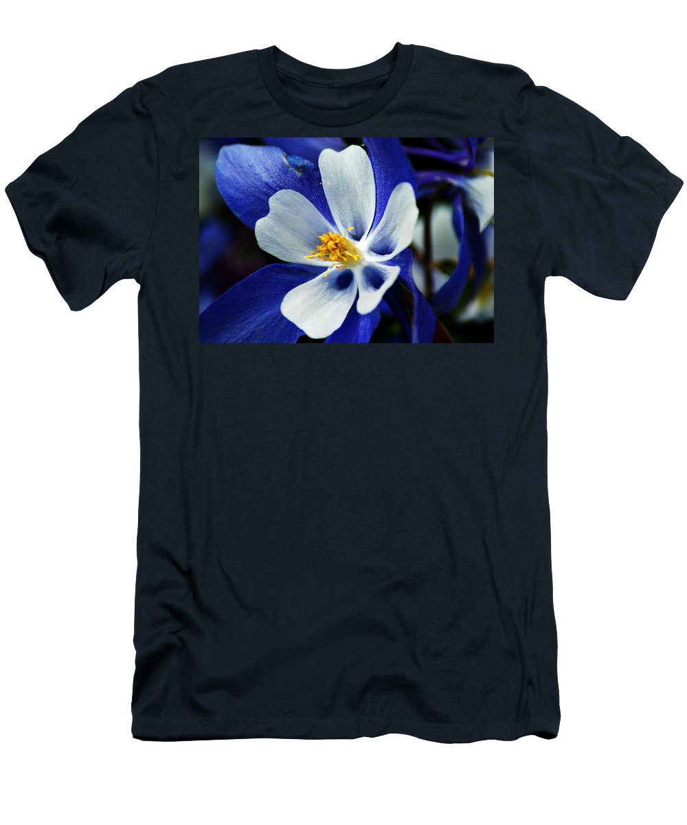 Columbine Men's T-Shirt (Athletic Fit) featuring the photograph Colorado Columbine by Brian Kerls
