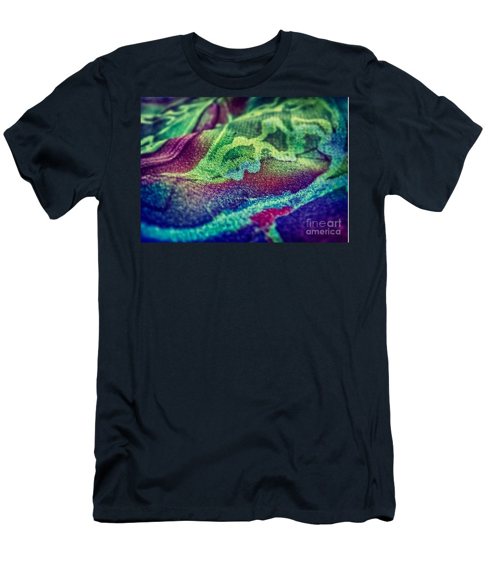 Abstract Photos Men's T-Shirt (Athletic Fit) featuring the photograph Colored 2 by Justyna JBJart