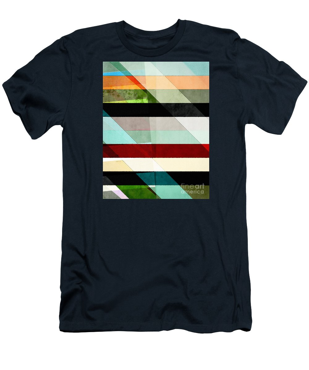 Colors Men's T-Shirt (Athletic Fit) featuring the digital art Colorful Textured Abstract by Phil Perkins