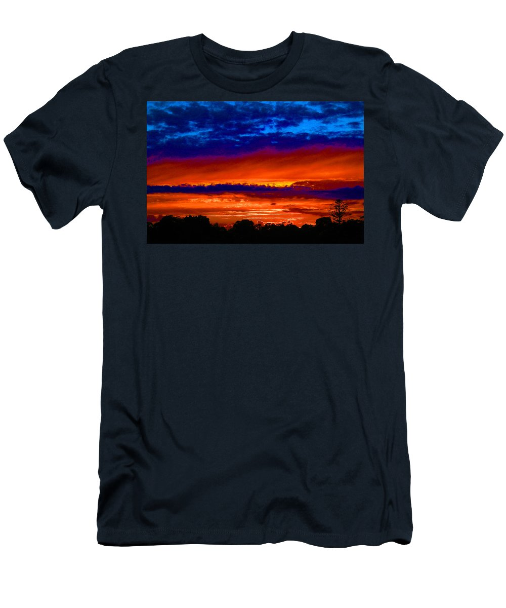 Sunset Men's T-Shirt (Athletic Fit) featuring the photograph Colours Of Sunset by Mark Blauhoefer