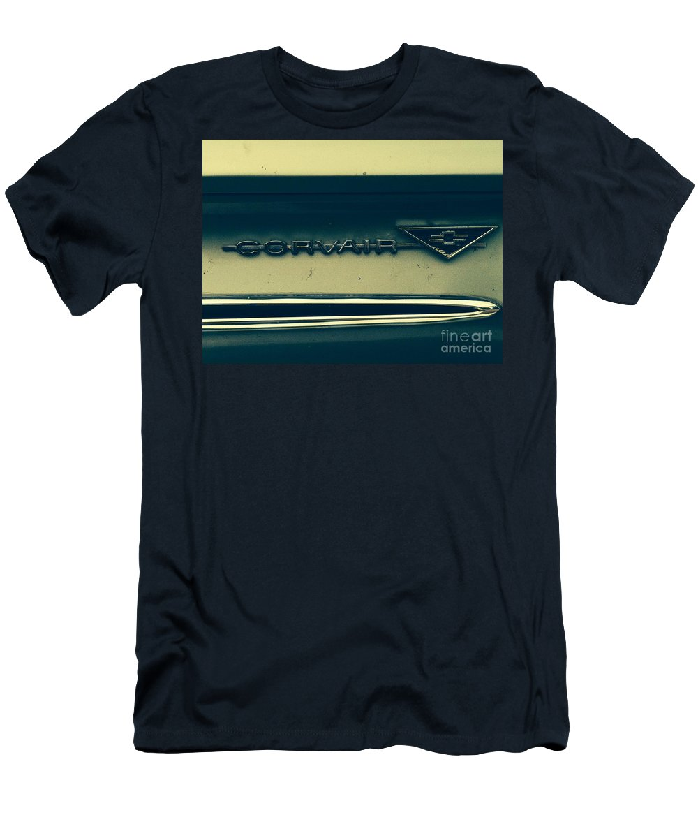 Classic Cars Men's T-Shirt (Athletic Fit) featuring the photograph Corvair by Michael Krek