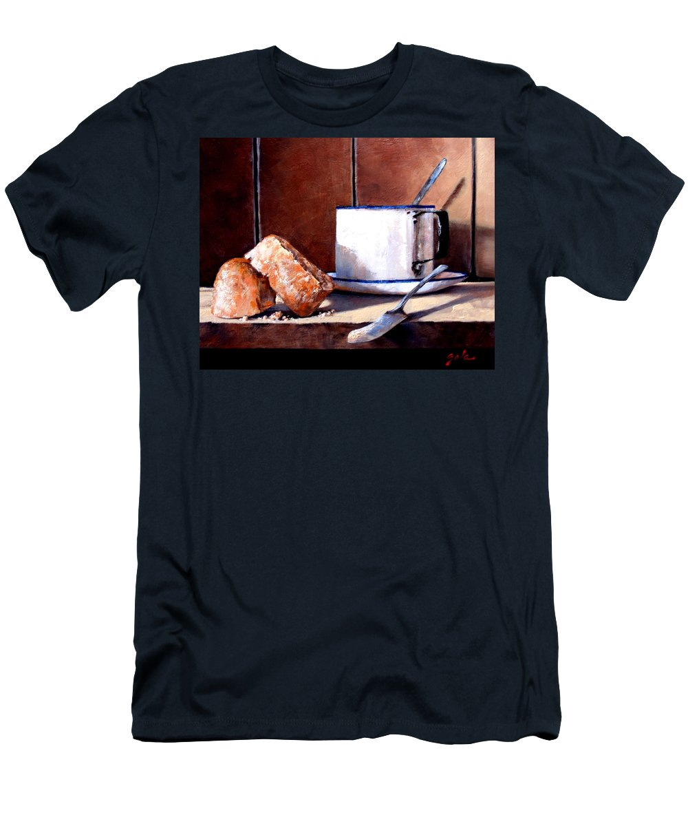 Still Life Men's T-Shirt (Athletic Fit) featuring the painting Daily Bread Ver 2 by Jim Gola