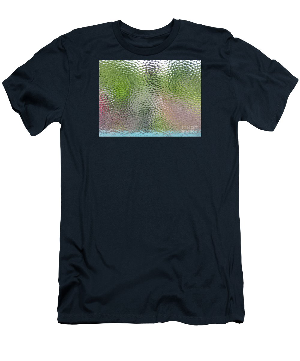 Tiles Men's T-Shirt (Athletic Fit) featuring the photograph Dancing Colors by Ann Horn