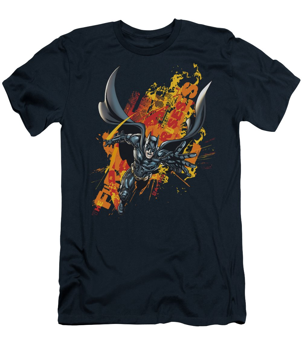 Dark Knight Rises T-Shirt featuring the digital art Dark Knight Rises - Fire Rises by Brand A